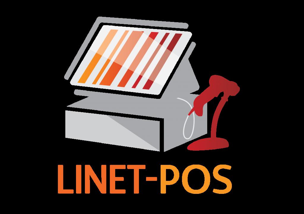 לוגו LinetPos צבעוני עם טקסט
