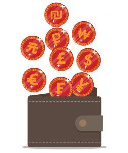 תמיכה במטבעות זרים